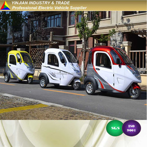 New E Tricycle Modern Rickshaw,Mini City E Trike E Bike Electric Tricycle for Service Carts Food Delivery Trolley