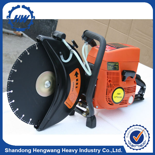 "14"" 71cc HandHeld Gas Cut Off Saw Concrete Bricks 2 stroke Engine Diamond Blade"