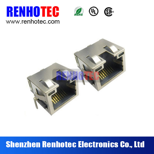 45 Degree Full Metal Shield RJ45 Jack Ethernet Connector