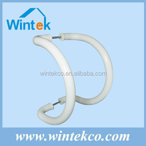 Glass aluminum tube/pipe door lever handle