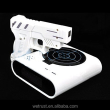 Novelty Desk Gadget Target Laser Shooting Gun LCD Screen Alarm Clock