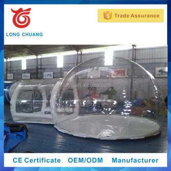 2017 hot sale inflatable igloo tent, inflatable clear tent, inflatable camping tent
