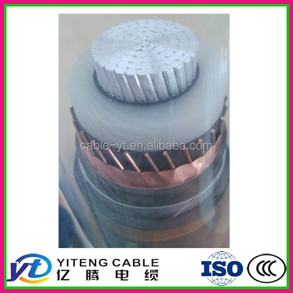 super high voltage 220KV XLPE Insulation fire resistant aluminum alloy electrical cable