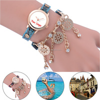 Beautiful Scenery Custom Printing Women Ladies Charm Wrist Watch