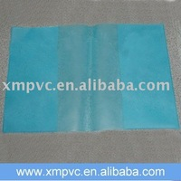 PVC book cover in light blue