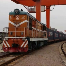 China cheapest international railway 20 Days to Europe Shipment by train Deliveryed Duty Paid logistics service
