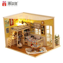 2017 new arrivals 3D beautiful DIY toy wooden doll house miniature Best birthday gift for girlfriend Me and my little buddy