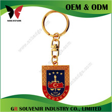 New product gold metal enamel keychain with lion