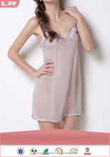 Wholesale Fashion Summer Sexy Ladies Girls Hot Transparent Silk Night Dress for Honeymoon
