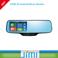 Newest 2016 3G wifi android car rearview mirror camera dvr with GPS tracker, gps navigation, DVR, Bluetooth