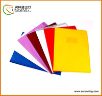 Polyvinyl Plastic Durable Grid embossed a4/a5 PVC Book Cover for school exercise book