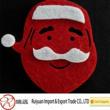 Wholesale high quality Santa shaped felt Christmas tree decoration