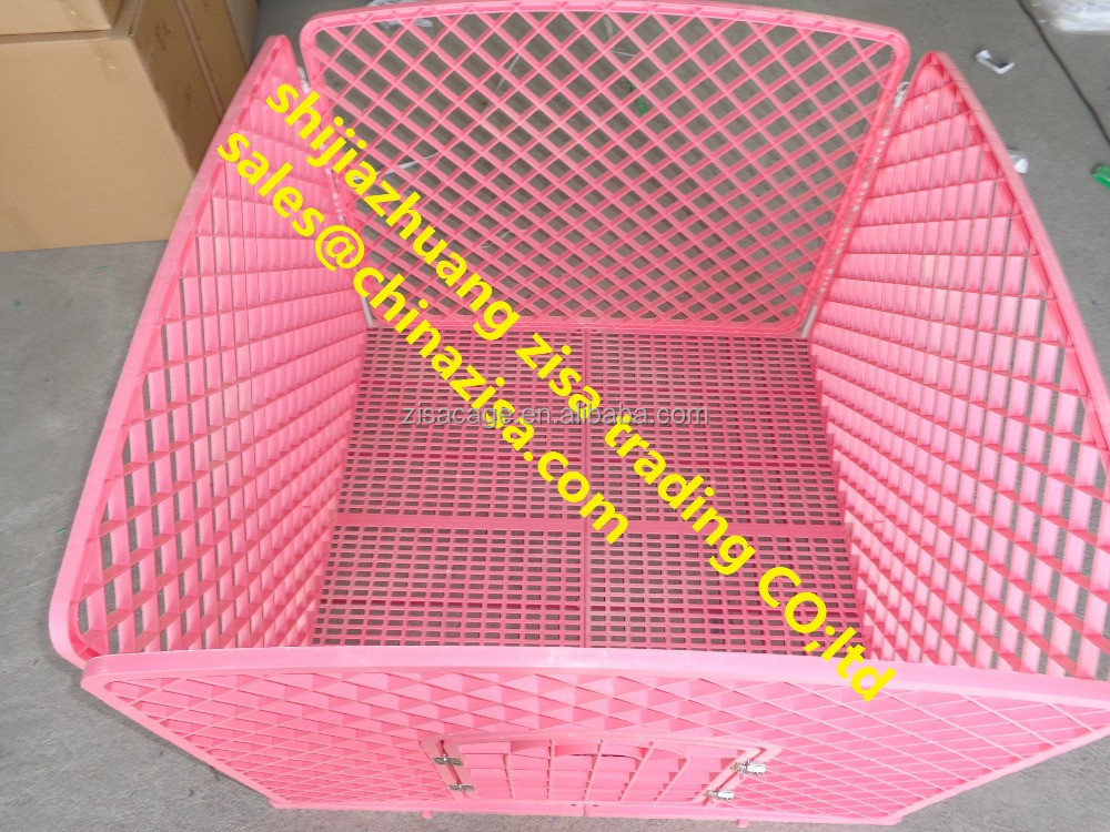 90x90x60 pink cheap plastic dog crate ,dog play pen , pet cage skype yolandaking666