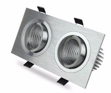 Dimmable Square White/Silver COB 18W 24W 30W 40W led downlight adjustable housing