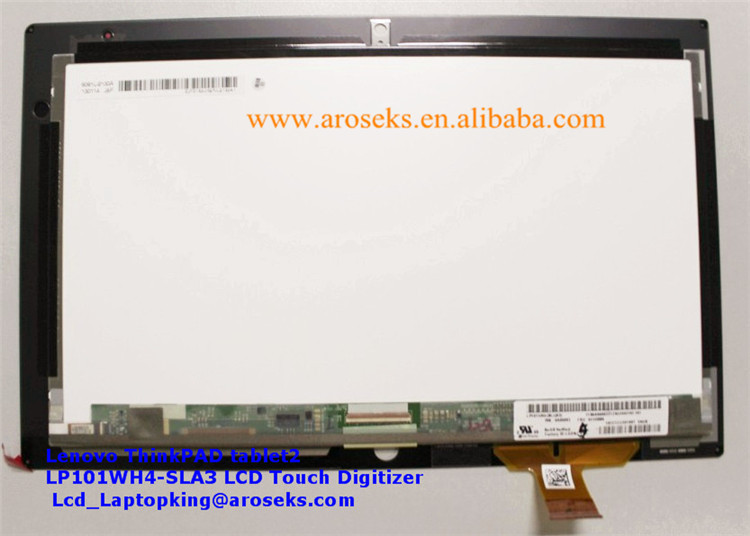 "10.1"" IPS LCD Screen LP101WH4-SLA3 With Touch Glass Digitizer For Lenovo ThinkPad Tablet 2"