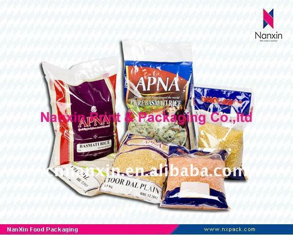 Plastic grain packaging bag - Food packaging