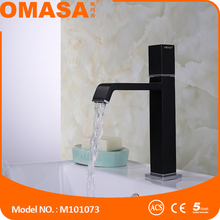 China sanitary ware factory new design hot cold water black basin faucet