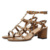 2017 new leather with rivet women summer thick heel sandals