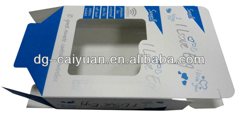 window gift packing box with flap