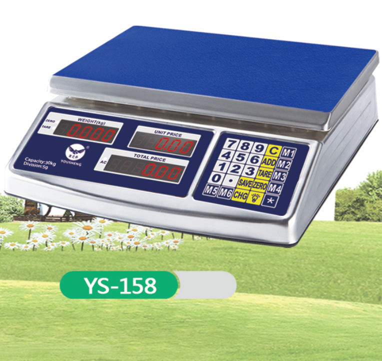 Heavy Duty S.S Body Electronic Digital Scale, Waterproof Function Model YS - 158.420g Long Standby Time Battery