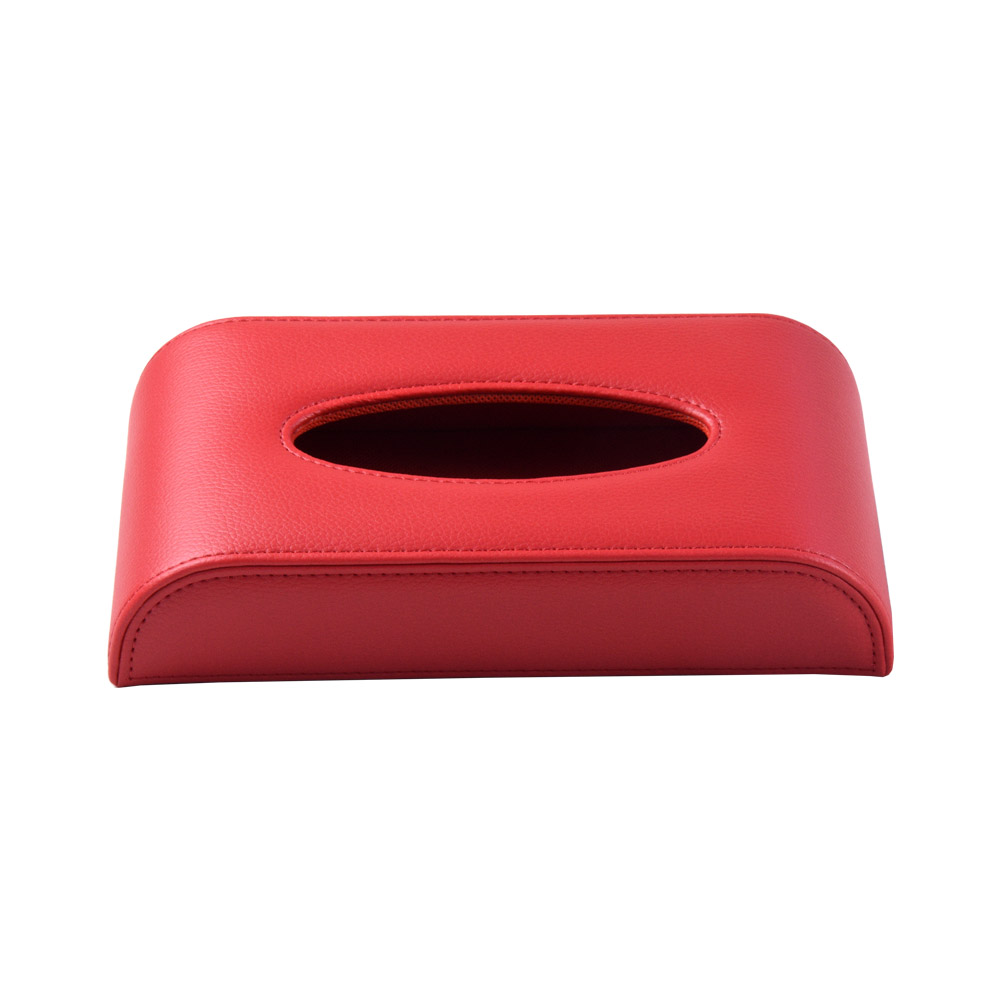 Wholesale morden car hanging red PU leather tissue case