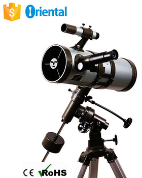 Sky Telescope New Product FT114500EQ Reflector +Paper Box Packaging,OEM Alluminum Telescope Alibaba China Suppliers,Steel Tripod