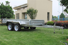10x5 High Quality Hot Dipped Galvanized Tandem Trailer For Sales