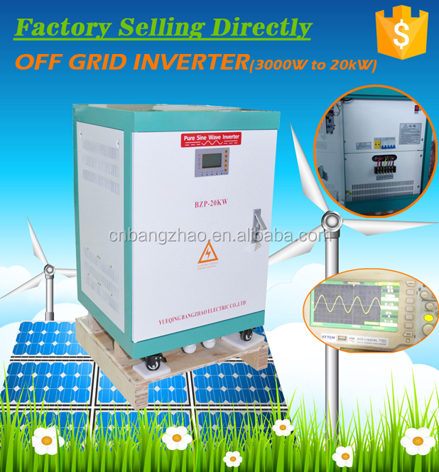BZP-10000w three phase 400V solar wind hybrid inverter with VFD function