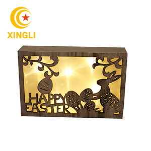 factory sales battery operated fancy led light crafts home decoration wooden led light box