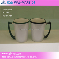 customized design special handle 11oz ceramic mug