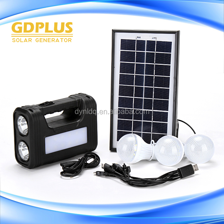 China portable small 20w solar system price, picture of solar system planets with 3 bulbs, wind solar hybrid power system