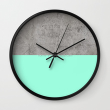 Nordic Cyan Pendulum Flip Cement Wall Clock for Home / Office Decoration
