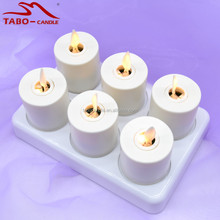 Christmas/home/party Decor Rechargeable Flameless Moving Wick Plastic White Tea Light Candles with Remote Control and Timer