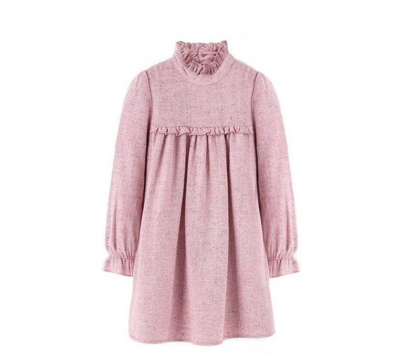 2018 Latest Model Baby Clothes Beautiful Cotton Kids Dresses Long Sleeve Winter Party Dress For Girls