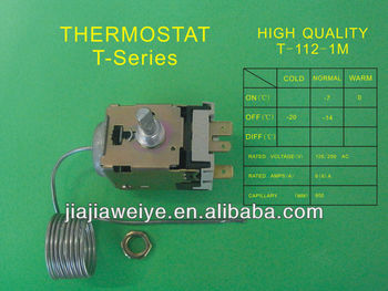 TAM-112-1M adjustable thermostat adjust fridge freezer thermostat