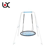 Adults kids outdoor stainless steel and PE strong hanging swing rope chair