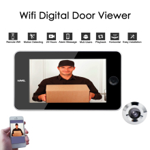Wifi Door Camera, Peephole Door Wifi Camera with Motion Detecting Sensor