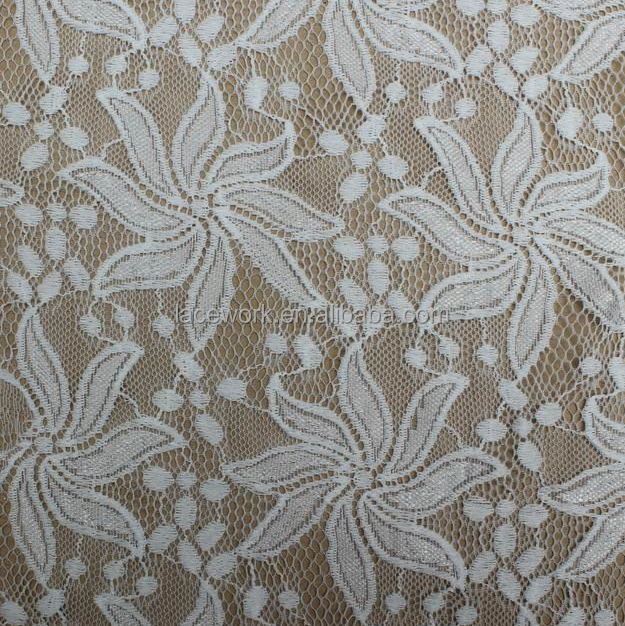 custom hot sale white lace voile stretch lace nylon lycra lingerie fabric for ladies