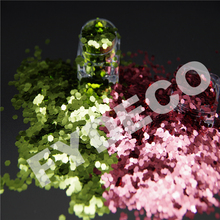 Top grade colorful hexagon solvent resistant PET glitter powder for crafts