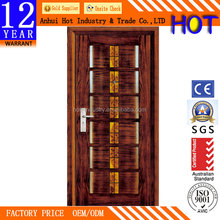 Single Steel Door Modern Grill Metal Door Hardware Steel Security Door Design