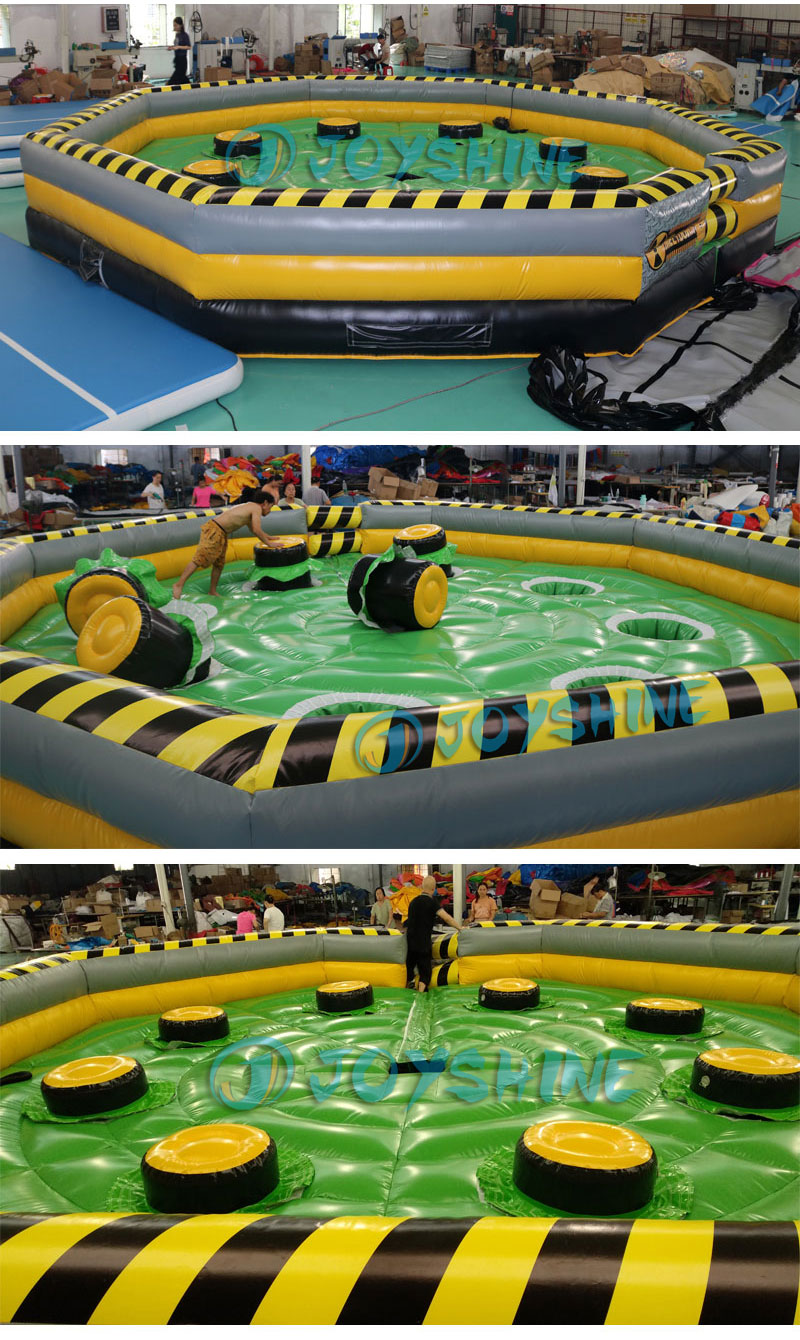 Wholesale Dia 7m Inflatable Toxic Meltdown Wipeout Games Eliminator Sweeper Obstacle Course Inflatable Meltdown Challenge Game