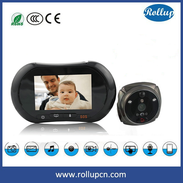 Digital electronics reverse peeping smart doorbell camera Instant alert by phone call SMS