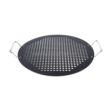 15-inch BBQ Pizza Pan,Non-stick Safety Coated Thick Gauge Cold Rolled Steel Material Grill Topper Pizza Stone, Black