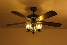 56 inch Ceiling Fan with Light Kit and Adaptable Wall Control, UL-, cUL- and CE-certified