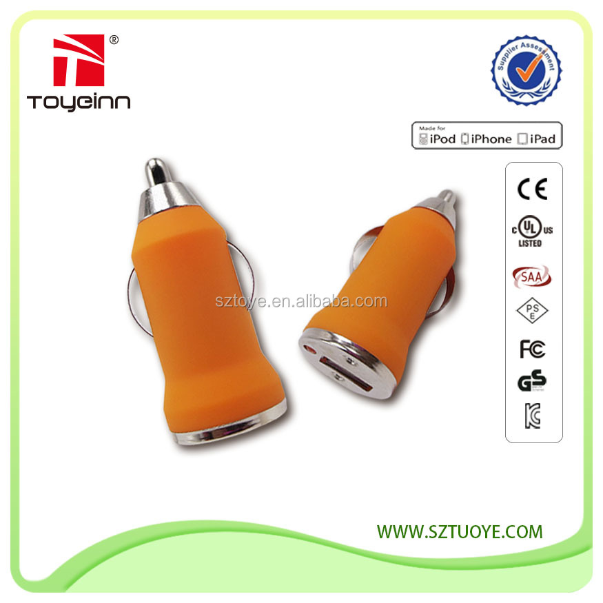 Toye 5v 1a ,5v 2a single port usb mobile phone car charger alibaba