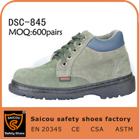 breathable steel toe mining industry safety shoes DS-845