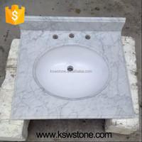 Italian white carrara marble countertop bathroom top