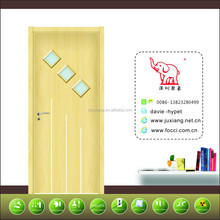 No formaldhype wood plastic composite modern designing wood kitchen door
