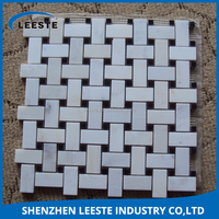 Used in countertops and sink counter mosaic white marble tiles