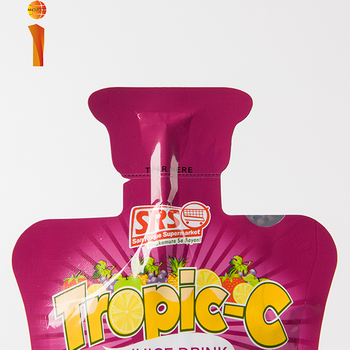 Safety customized exquisite printed doypack stand up pouch beverage juice pouch with straw for juice